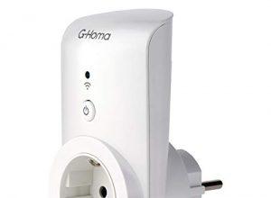 EMOS G-Homa Smart WiFi Steckdose mit Timer und Countdown + App für Android/iOS, Schuko