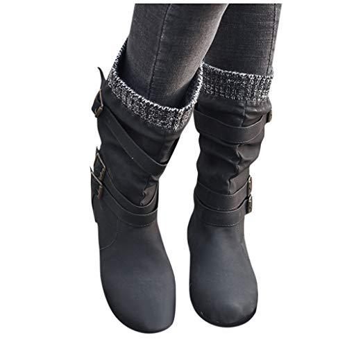 Top 10 Overknee Stiefel Schwarz mit Absatz Leder – Damen-Stiefel